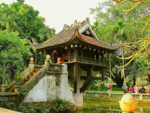 Буддийские храмы во Вьетнаме. Пагода на одном столбе в Ханое (Chùa Một Cột)