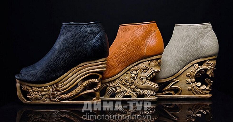 обувь от вьетнамских резчиков по дереву