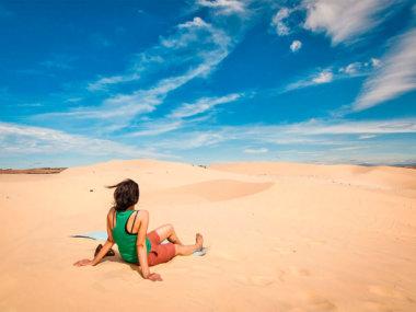 Белые дюны в Муйне, Вьетнам (White sand dunes in Mui Ne, Vietnam)