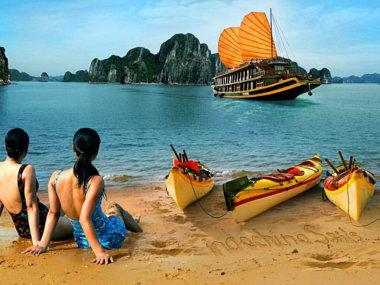 Бухта Халонг на севере Вьетнама