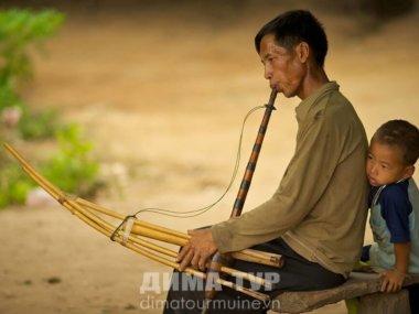 Музыкальные инструменты Вьетнама. Духовой инструмент Khen Mong