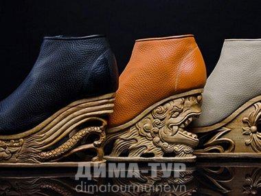Уникальная обувь от вьетнамских резчиков по дереву