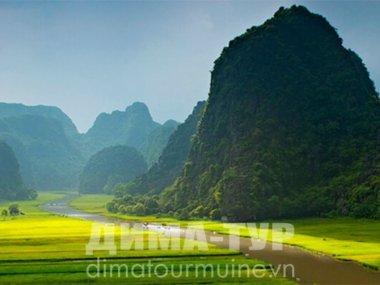 Парк трех пещер Тамкок (Там Кок, Tam Coc)