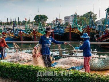 Экскурсии : Рыбаки в городе Фантьет, Муйне