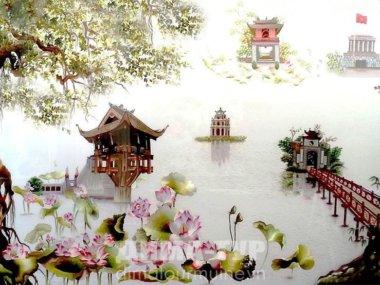 Ремесла Вьетнама : шелковые картины (вышивка)