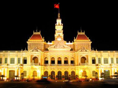 Ночной Сайгон. Вьетнам