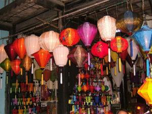 Сувениры из Вьетнама: Тканевые фонарики