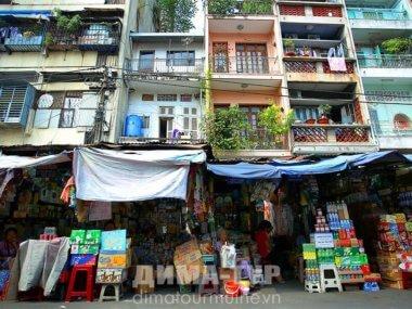 Узкие фасады вьетнамских домов