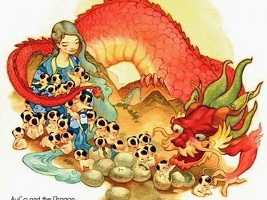 Вьетнамская легенда о драконе и фее