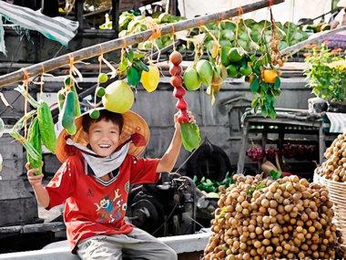 Рынок на Меконге