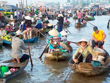 Меконг. Плавучий рынок